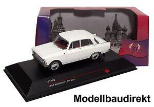 Moskwitsch-408-in-Weiss-Bj-1968-1-43-IXO-IST-102-Cars-amp-Co-NEU-amp-OVP
