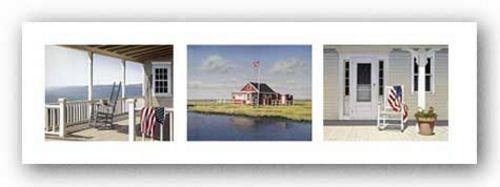 SEASCAPE ART PRINT Summer Trio triptych Daniel Pollera