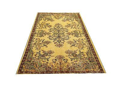 Antiques Clearence 6.8 X 3.9 Vintage Yellow Oushak Overdyed Carpet Rug Consumers First