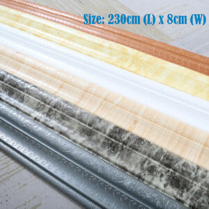 2.3m Self Adhesive Wall Skirting Border Sticker 3D DIY Waterproof Wallpaper