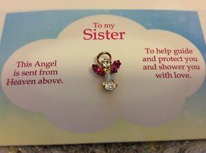 00802bf2e4f46 Caricamento dell immagine in corso Angel-PIN-A-MIA-SORELLA-Spilla-bavero-pin -