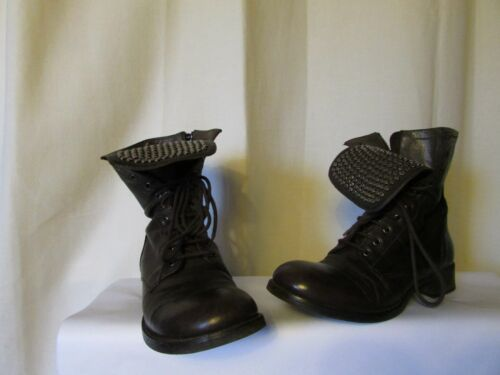 Boots NOW Brown Leather And Metal Size 36
