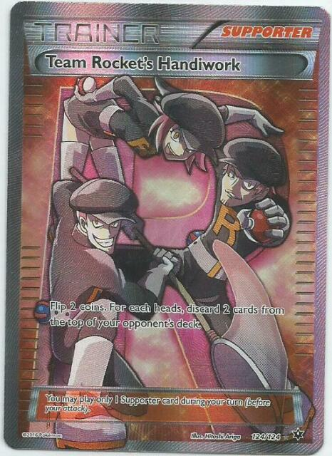 Ultra Rare NM Pokemon Full Art Team Rocket/'s Handiwork 124//124 Fates Collide