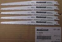 Mastercraft By Bosch 16-30233 9 X 6tpi Bi-metal Recip Saw Blades 5pcs.