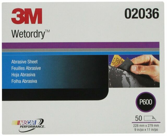 3M 02036 Imperial Wetordry 9 x 11 P600A Grit Sheet