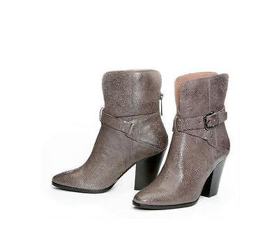 Donald J Pliner Sarje Gray Snake Print Leather Western Riding Ankle Boots 9.5