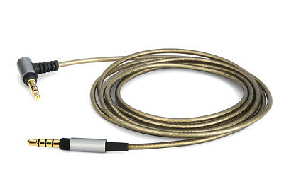 Silver Plated Audio Cable with Mic For SONY WH-CH700N MDR-H600A headphones