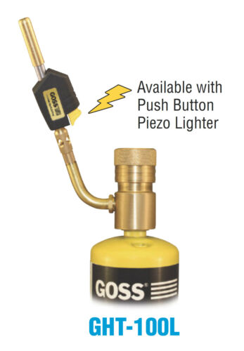 Goss GHT-100L Soldering Brazing Torch Hot Turbine Flame and Piezo Lighter Tip