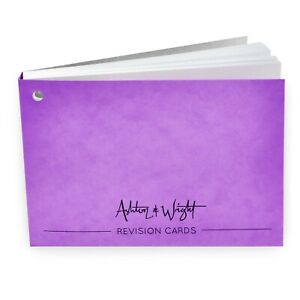 Ashton-amp-Wright-Revision-Cards-Book-Gummed-Spine-50-Sheets-Violet-Cover