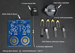 Touch Sensitive Morse Paddle KIT Build for Iambic keying and