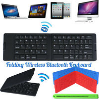 Slim Folding Wireless Bluetooth Keyboard Keypad For iPhone Tablet PC Android New