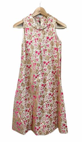 Suzy Perette Floral Brocade Dress XS S Vintage 195