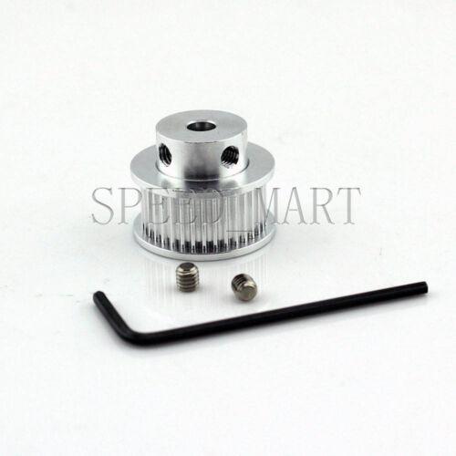 GT2 Aluminum Timing Belt Pulleys 36T 10mm Width 5mm Bore for 3D Printer