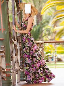 Khaki Gemustert 46 44 Marken Maxi Gr Top Kleid 40 0917277855 42 zIZatwTqxw