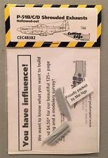 Cutting Edge 1:48 P-51B/C/D Shrouded Exhausts Hollowed-Out #CEC48382