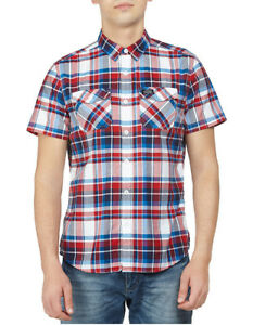 NEW Superdry Washbasket Short Sleeve Shirt Red