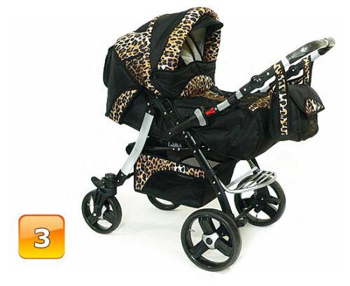 SONDERPREIS Neu Kombi Kinderwagen Schwenkräder Sportsitz Autositz Babyschale