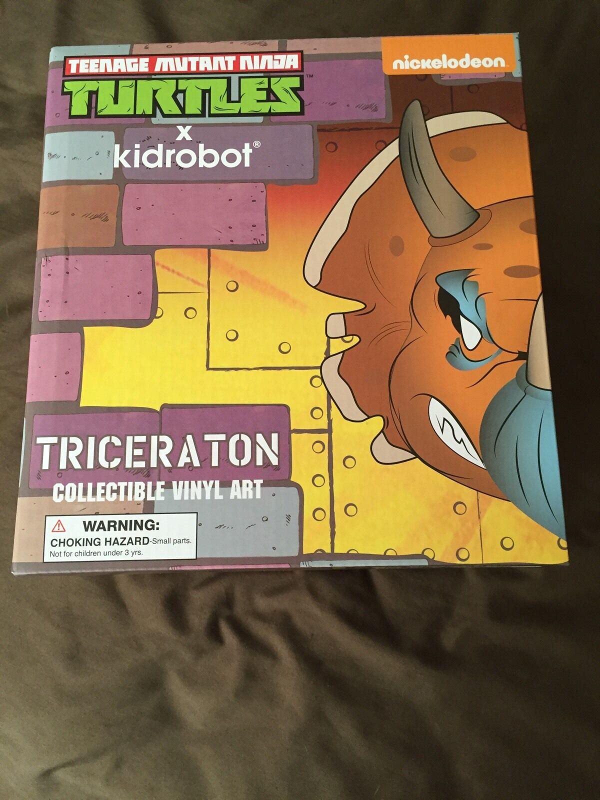 TRICERATON COLLECTIBLE VINYL ART TMNT SDCC 2016 EXCLUSIVE KIDROBOT