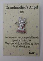 Bb Grandmother's Grandma Give Wisdom Hugs W/ Visit Everybody's Angel Tack Pin