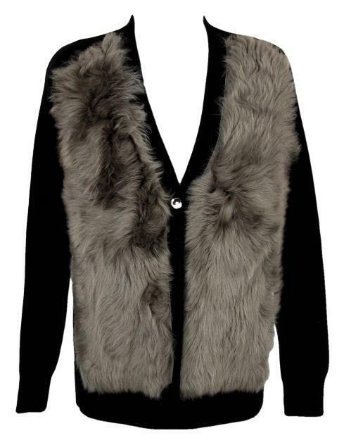 J Crew Colección  mujer Shearling Cochedigan Sweater botón frontal 05067 S Negro  hasta 42% de descuento