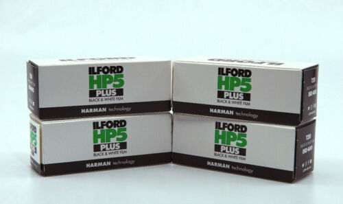 4 x Ilford HP5 Plus 120 Black /& White Roll Film 400 ISO 36 EXP