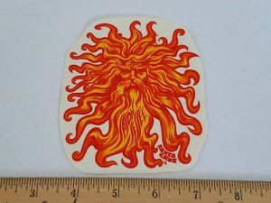 VTG 80's SANTA CRUZ JASON JESSEE SUN GOD FACE RARE SMA NOS SKATEBOARD STICKER !!