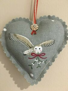 SOPHIE-ALLPORT-HANDMADE-FABRIC-CHRISTMAS-OWL-HANGING-HEART-DECORATION