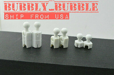 "1//6 Extra Long Feet Leg Peg Joint Adapter Set For 12/"" Hot Toys Phicen ☆USA☆"