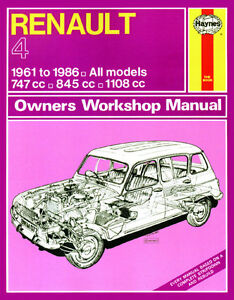 0072 HAYNES RENAULT 4 (1961 - 1986) jusqu'à D workshop manual-afficher le titre d`origine 4UDFB18i-07135858-701493253