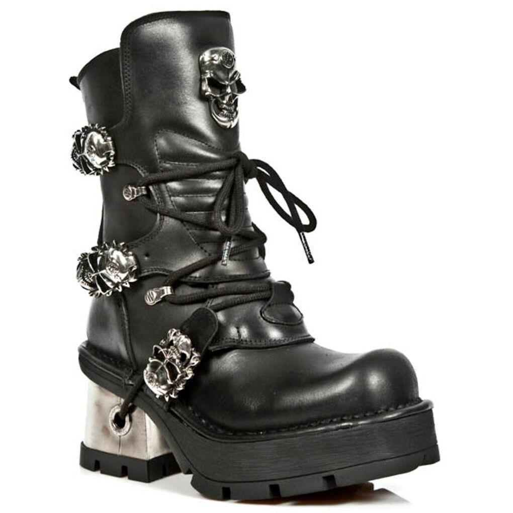 Newrock Nr M.1044 S1 Negro-New Rock botas-Para Mujer