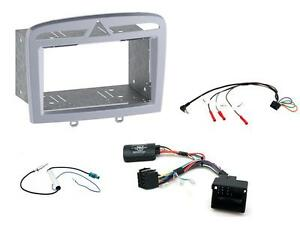 407 Car Stereo Double//Single Din Fitting Kit Stalk Control For Peugeot 308