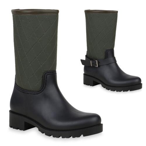 892389 Gummistiefel Regenschuhe Gesteppte Stiefel Top Damen Profilsohle nzrU6zwx1