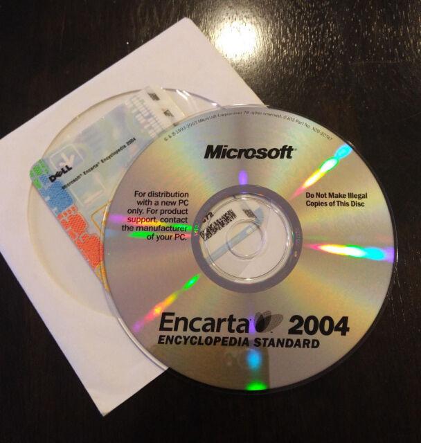 Microsoft Encarta 2004 - Windows Encyclopedia Standard Office Refference - Mint