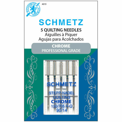 Sewing Machine Needles CHROME PROFESSIONAL QUILTING 90//14 5-Count ~ Schmetz 4019