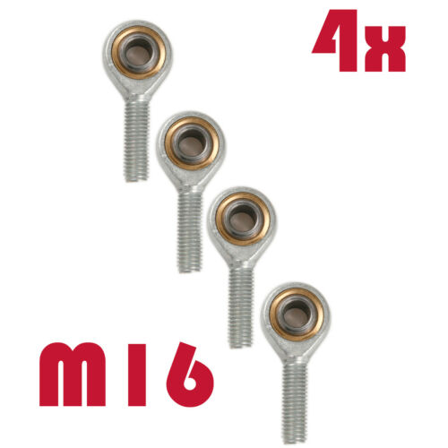 4X SA16T//K Male Threaded Rod End Right Hand Rose Thread Joint M16 x 2