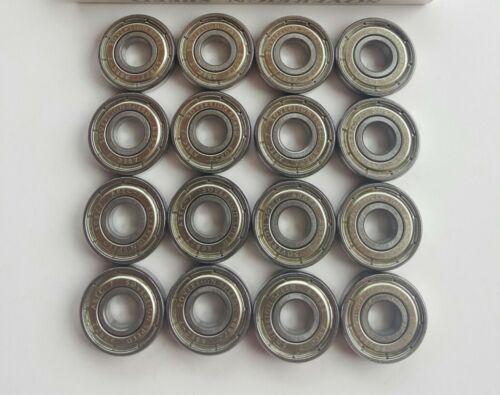 roller skate derby rollerblade inline hockey 8mm 608zz 16 Pack Skate Bearings