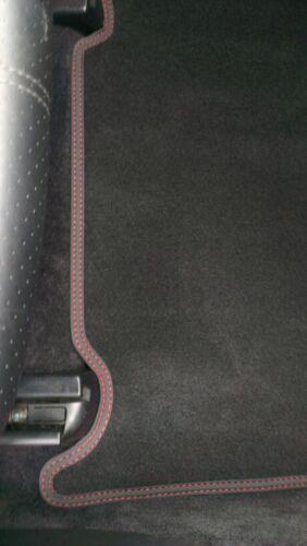ab 2014 Fußmatten Velours Deluxe schwarz Nubukband rot-rot Für Ford Mustang Bj