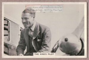 Wing-Commander-E-H-Fielden-Captain-of-the-King-039-s-Flight-1930s-Trade-Ad-Card