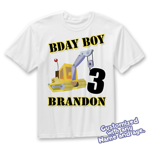 Image Is Loading Construction Party Birthday Shirt