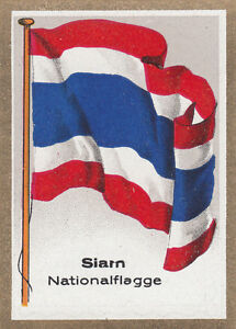 DRAPEAU-SIAM-Thailande-Rattanakosin-Kingdom-Thailand-National-FLAG-CARD-30s
