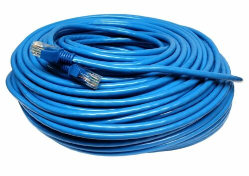 Blue CAT5 200FT 60M Cat5e Patch Ethernet LAN Network Router Wire Cable Cord New