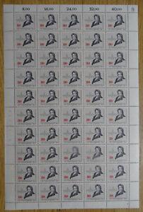 50-x-Bund-1219-postfrisch-Bogen-Formnummer-2-FN-BRD-Friedrich-Bessel-1984-MNH