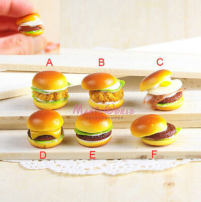 1x Fake Food Hamburger Handmade Imitation Simulated Play Toy Dollhouse Miniature
