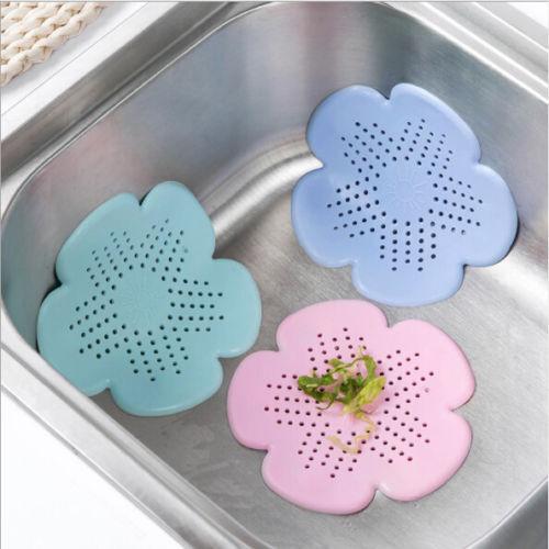 Drain Sink Strainer Hair Filter Catcher Kitchen Bathroom Supplies Silicone New F