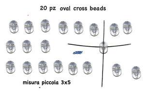 OVAL BEADS 4 FORI MISURA PICCOLA 3X5 20 PZ - LEADER LINE - Italia - OVAL BEADS 4 FORI MISURA PICCOLA 3X5 20 PZ - LEADER LINE - Italia