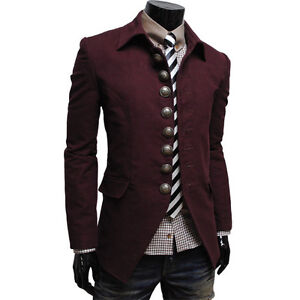 THELEES-Mens-Casual-Slim-fit-Long-Sleeve-Unique-Jacket-Coat-Blazer-Collection