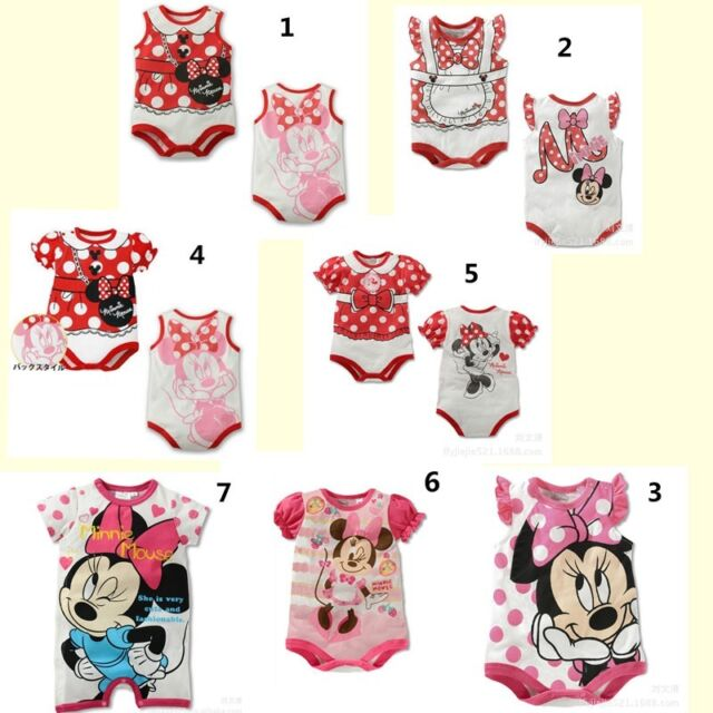 Lovely Infant Girls Baby Boy Rompers Jumpsuit Popular Cartoon Cotton 6-24 Months