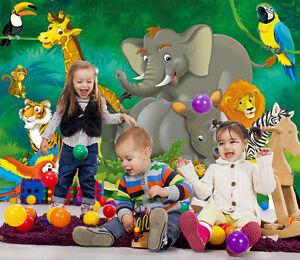 Dschungel Kinderzimmer Fototapete Junge Wanddekoration Madchen Xxl