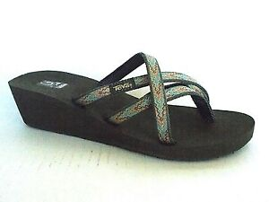 TEVA MUSH Mandalyn Wedge OLA 2 Sandals Softground Sea Fog   Gray ... 9913d9d4f83d
