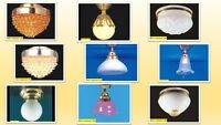 1:12 Scale Dolls House Miniature Wired Lighting (12v) Ceiling Light 9 To Choose.
